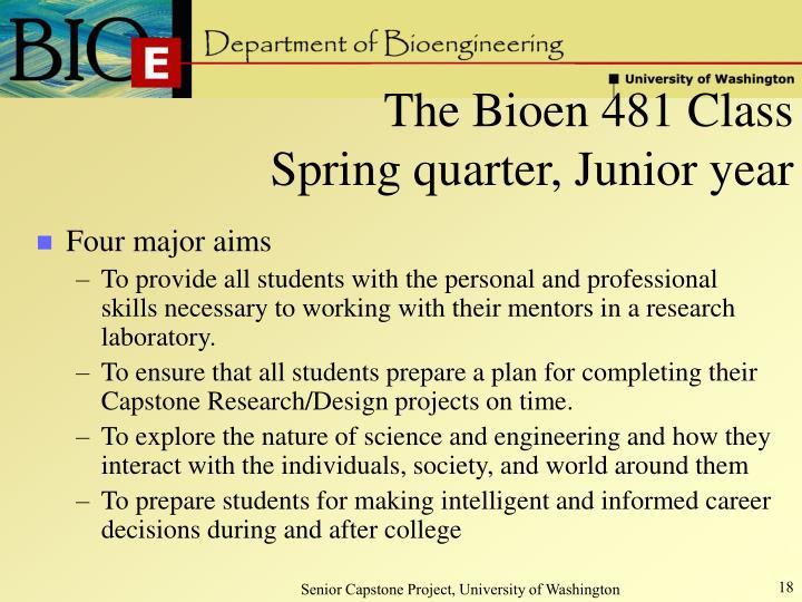 The Bioen 481 Class
