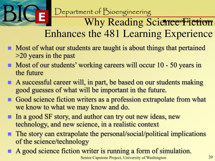 Why Reading Science Fiction