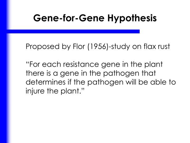 Gene-for-Gene Hypothesis