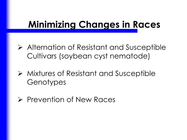Minimizing Changes in Races