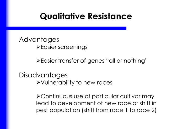 Qualitative Resistance