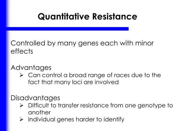 Quantitative Resistance