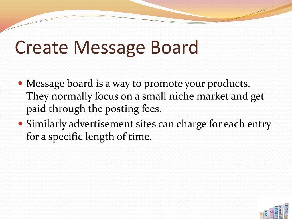 Create Message Board