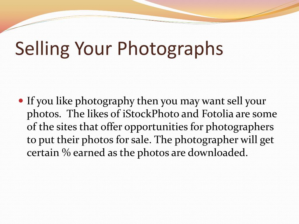 Selling Your Photographs