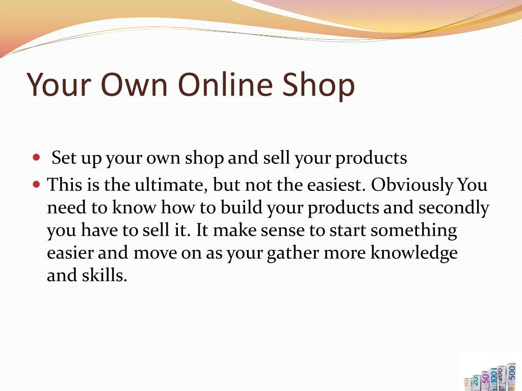 Your Own Online Shop
