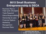 6615 small business entrepreneurship deca