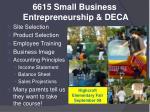 6615 small business entrepreneurship deca1