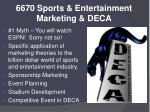 6670 sports entertainment marketing deca
