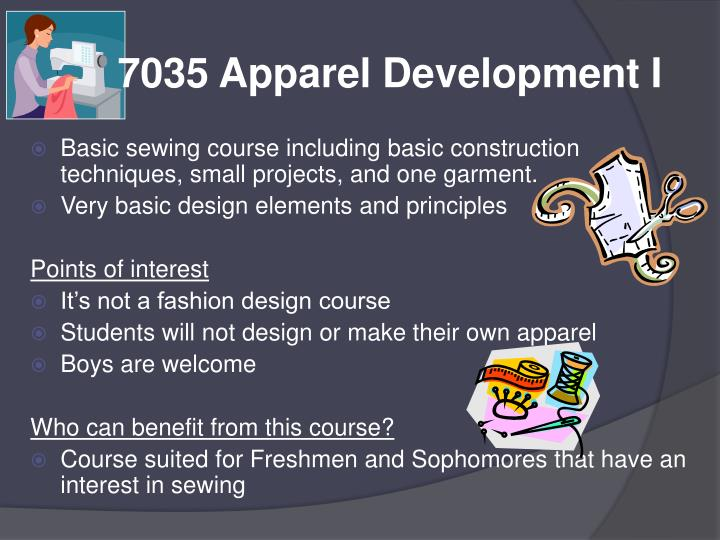 7035 Apparel Development I