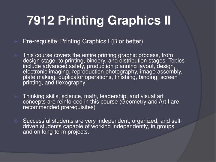7912 Printing Graphics II