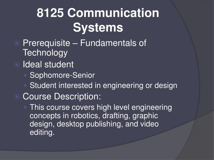 8125 Communication Systems
