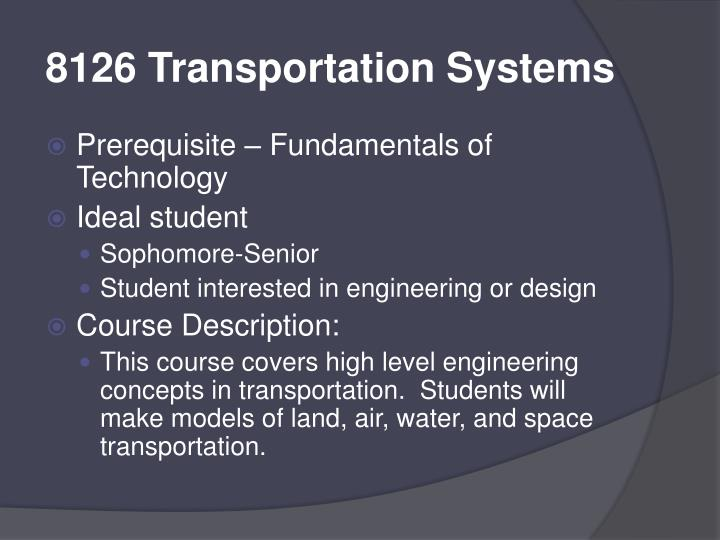 8126 Transportation Systems