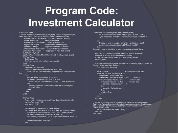 Program Code: