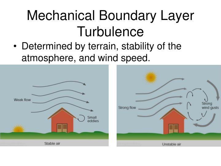Mechanical Boundary Layer Turbulence
