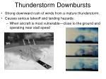 thunderstorm downbursts