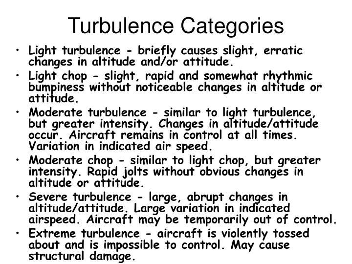 Turbulence Categories