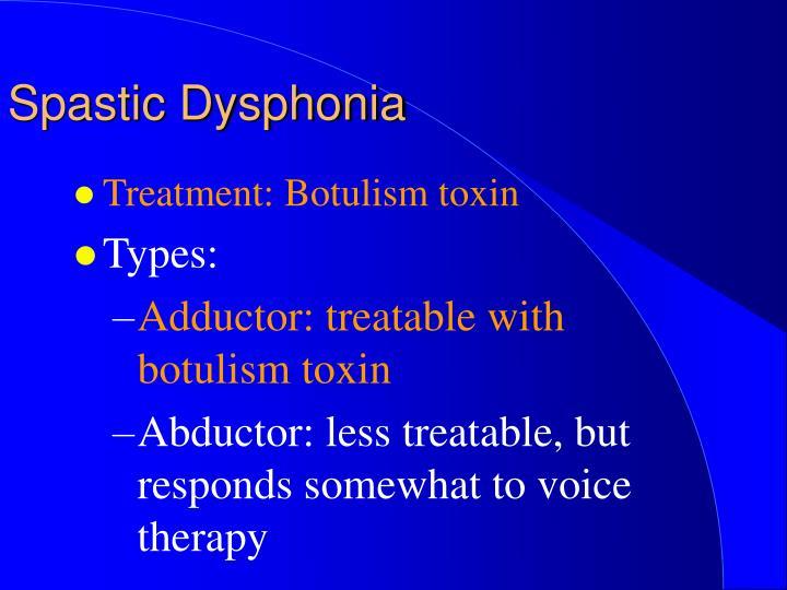 Spastic Dysphonia