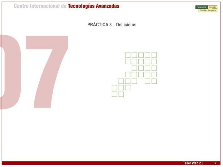 PRÁCTICA 3 – Del.icio.us