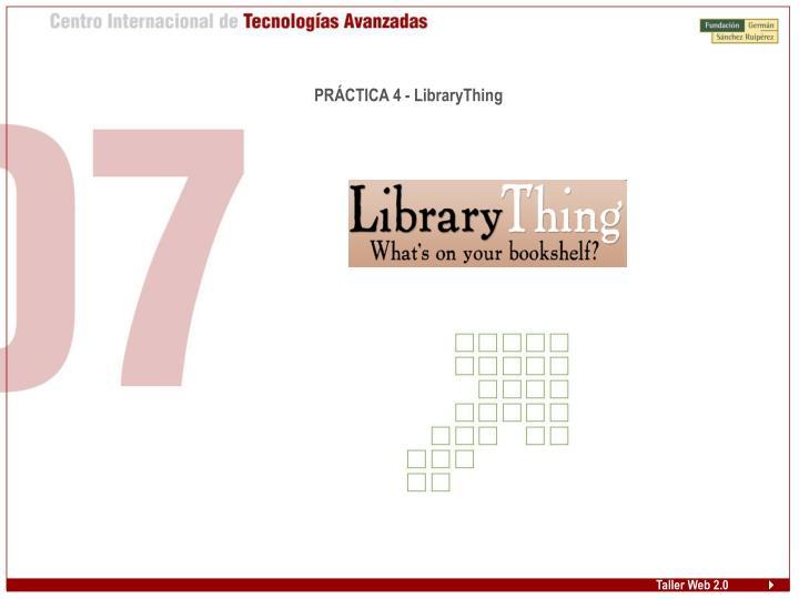 PRÁCTICA 4 - LibraryThing