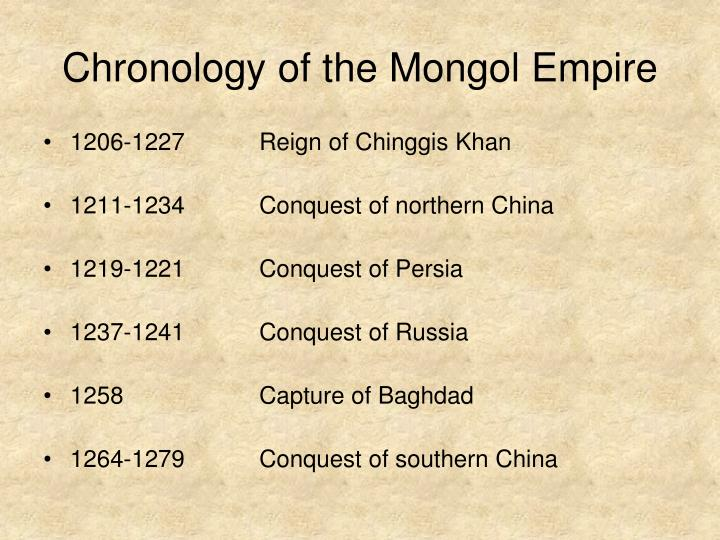 Chronology of the Mongol Empire