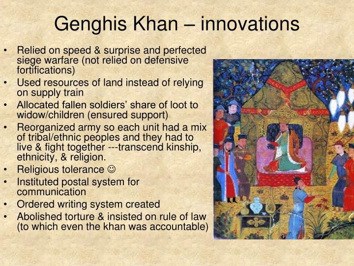 Genghis Khan – innovations