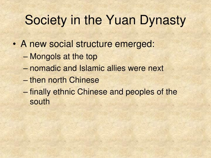 Society in the Yuan Dynasty