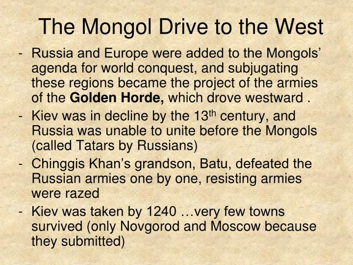 The Mongol Drive to the West