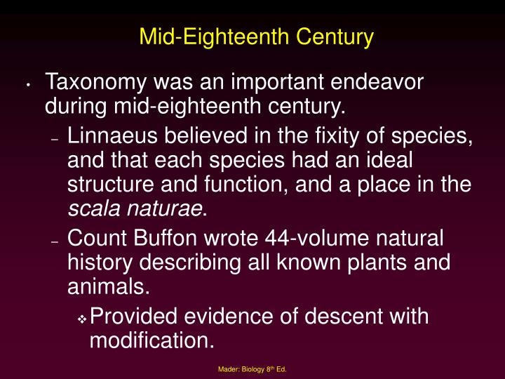Mid-Eighteenth Century