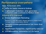 performance everywhere