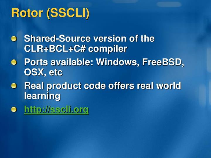Rotor (SSCLI)