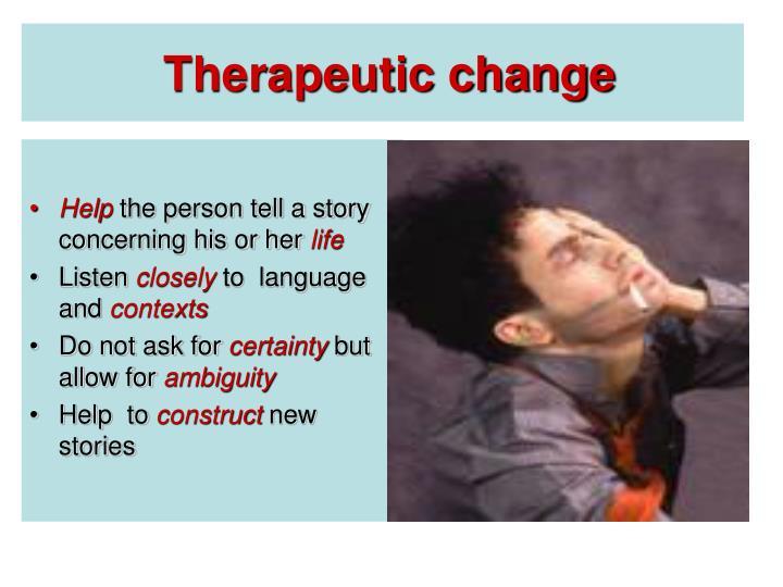 Therapeutic change