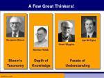 a few great thinkers