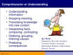 comprehension or understanding