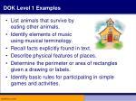 dok level 1 examples