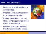 dok level 4 examples