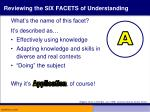 reviewing the six facets of understanding2