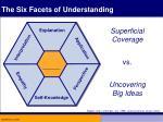 the six facets of understanding1