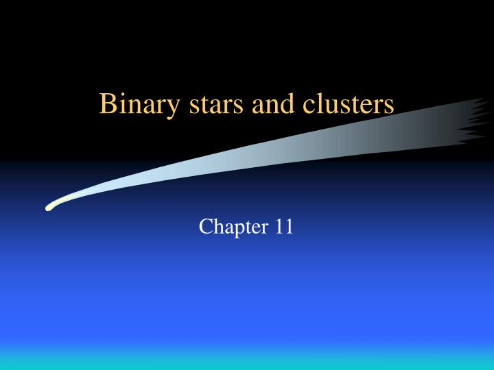 Binary stars and clusters