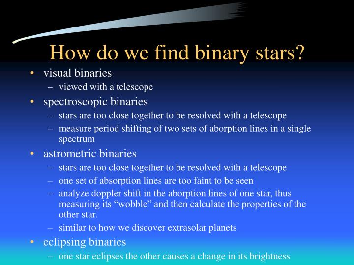 How do we find binary stars?