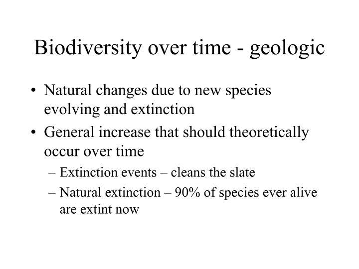 Biodiversity over time - geologic