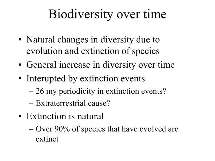 Biodiversity over time