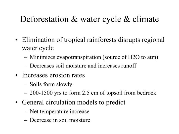 Deforestation & water cycle & climate