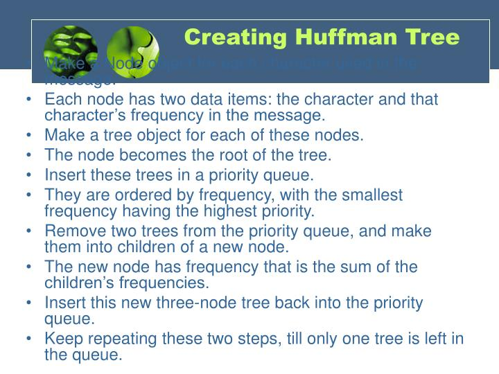 Creating Huffman Tree