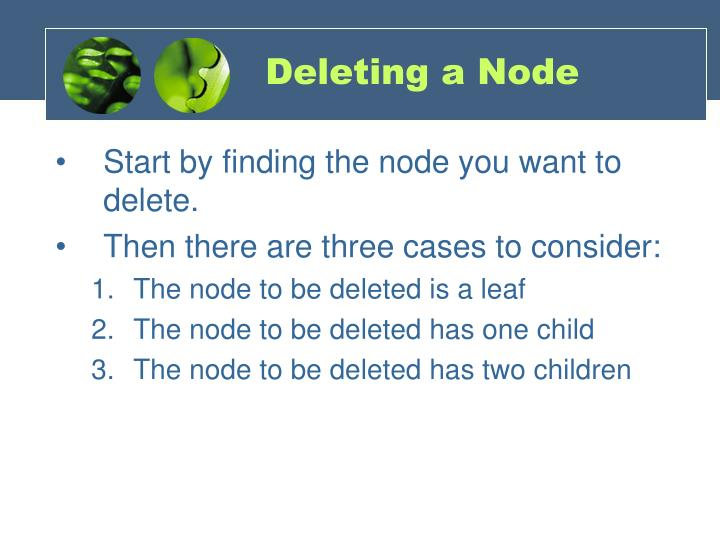 Deleting a Node