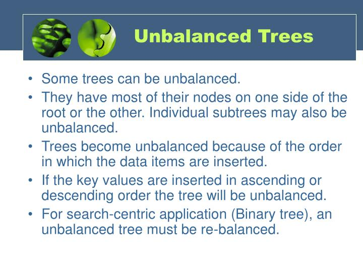 Unbalanced Trees