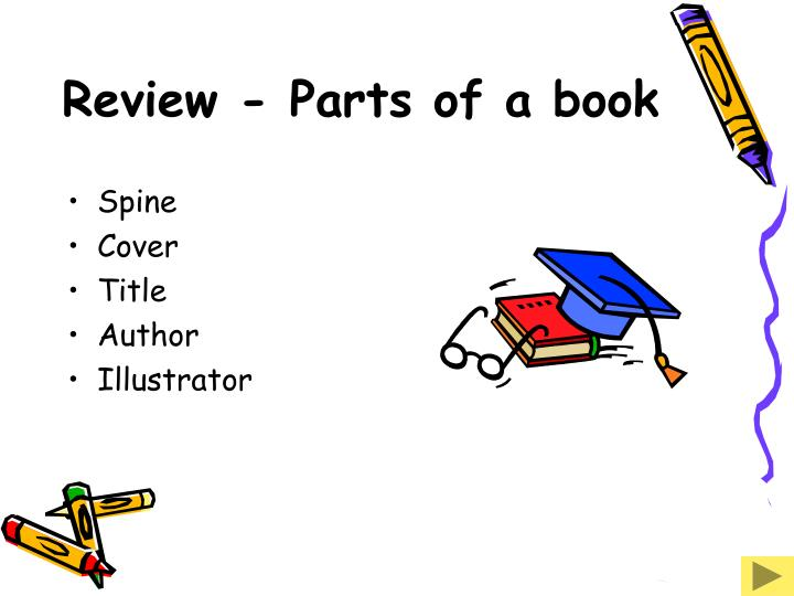 Review - Parts of a book