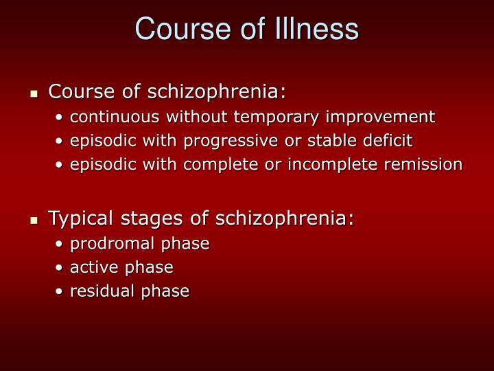 Course of Illness
