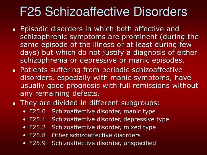 F25 Schizoaffective Disorders
