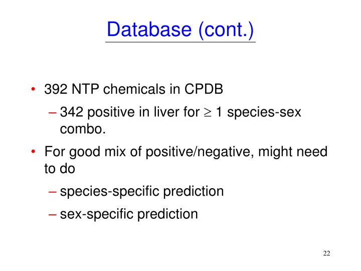 Database (cont.)