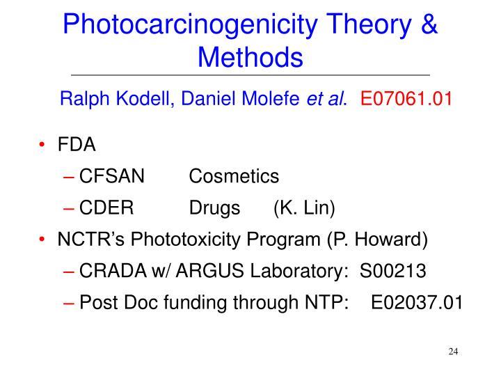 Photocarcinogenicity Theory & Methods